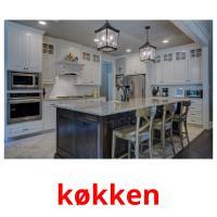 køkken picture flashcards