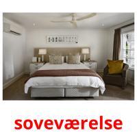 soveværelse picture flashcards