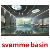 svømme basin picture flashcards