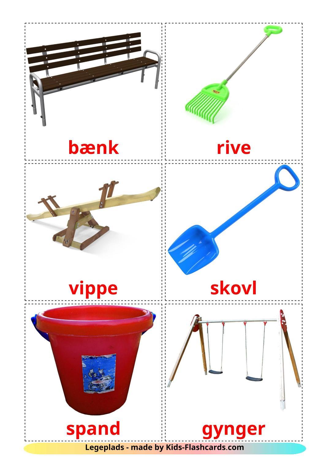 Playground - 13 Free Printable dansk Flashcards