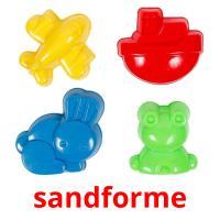 sandforme picture flashcards
