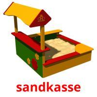 sandkasse picture flashcards