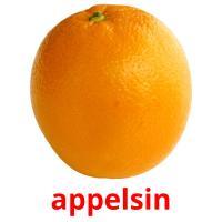 appelsin picture flashcards