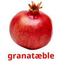 granatæble picture flashcards
