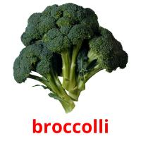 broccolli picture flashcards