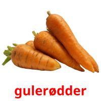 gulerødder picture flashcards