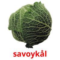 savoykål picture flashcards