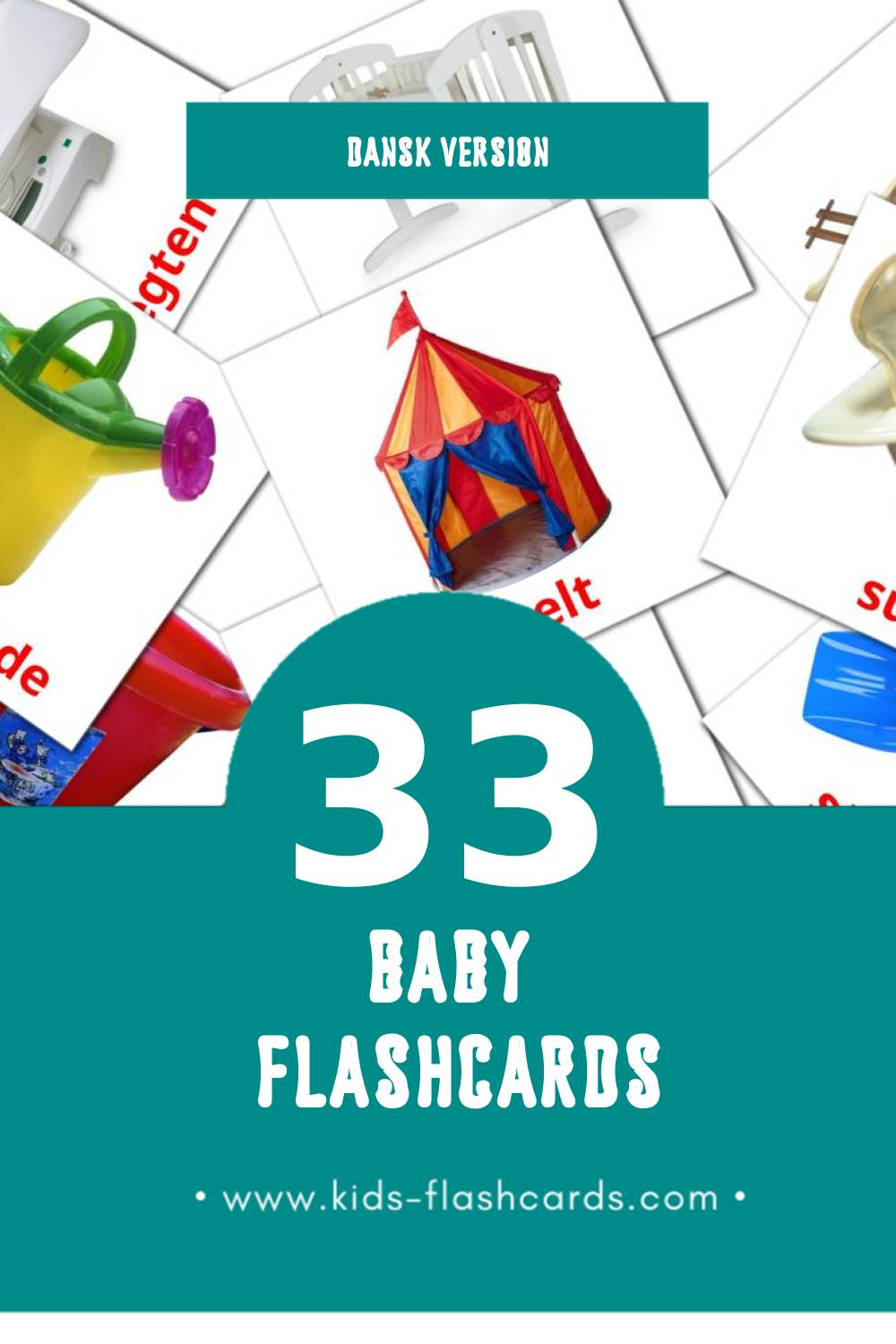 Visual Bbay Flashcards for Toddlers (33 cards in Dansk)