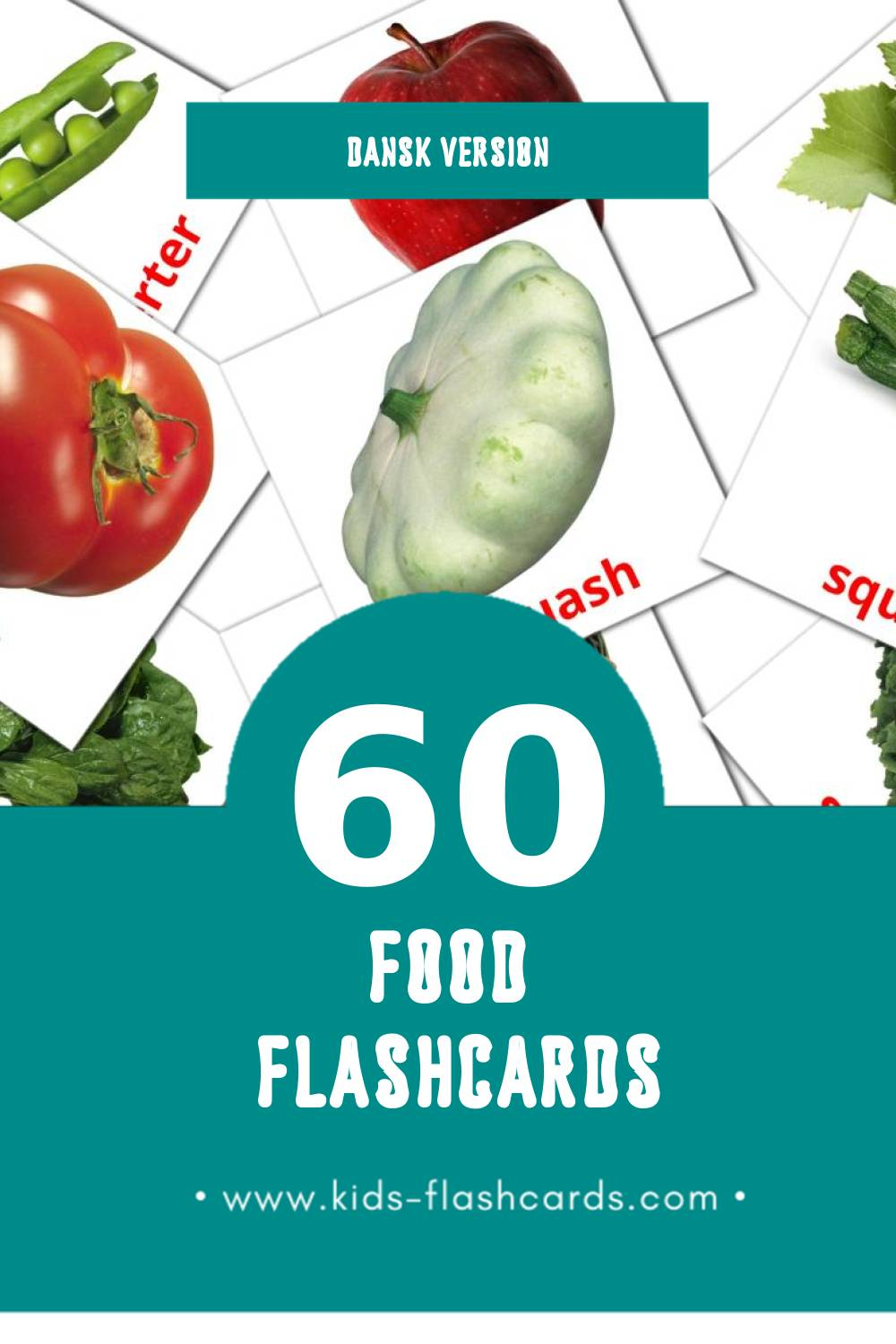 Visual Mad Flashcards for Toddlers (60 cards in Dansk)