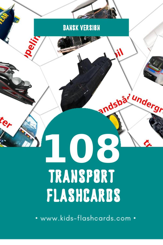 Visual Transportere Flashcards for Toddlers (108 cards in Dansk)