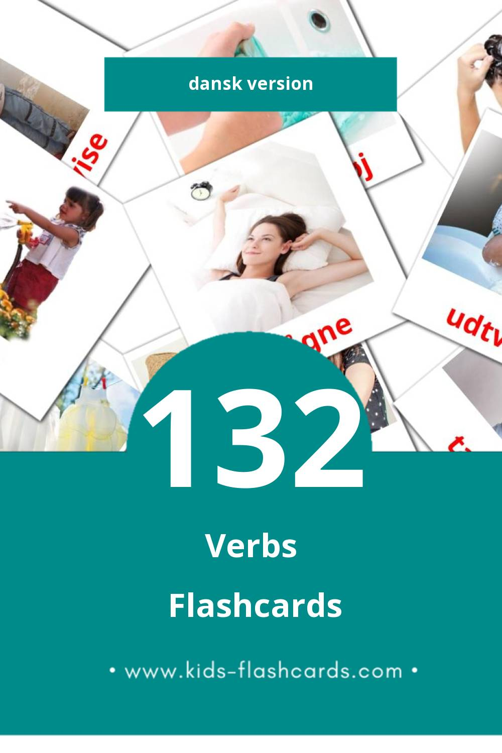Visual Verber Flashcards for Toddlers (133 cards in Dansk)