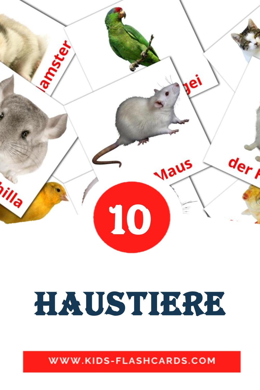 10 Die Haustiere  Picture Cards for Kindergarden in german