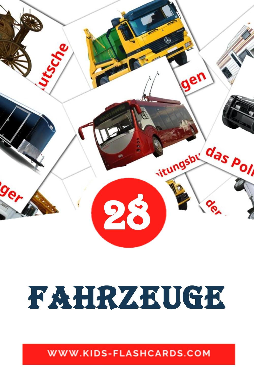 28 Landverkehr  Picture Cards for Kindergarden in german