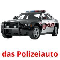 das Polizeiauto picture flashcards
