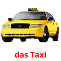 das Taxi picture flashcards