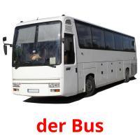 der Bus picture flashcards