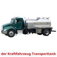 der Kraftfahrzeug Transporttank picture flashcards
