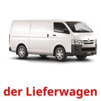 der Lieferwagen picture flashcards