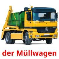 der Müllwagen picture flashcards