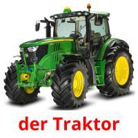 der Traktor picture flashcards