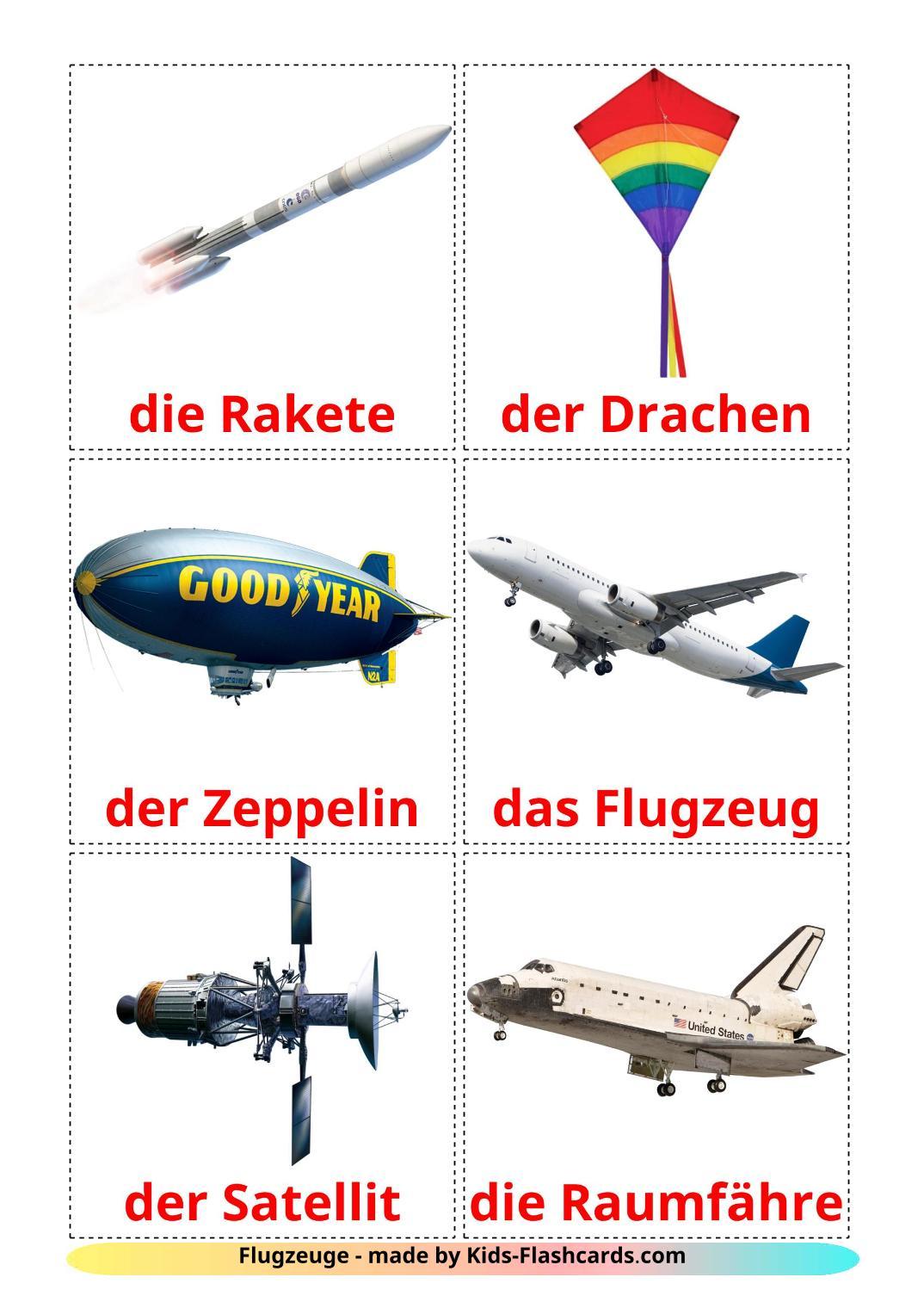 Aircraft - 14 Free Printable german Flashcards