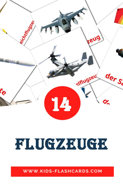 14 Flugzeuge  Picture Cards for Kindergarden in german