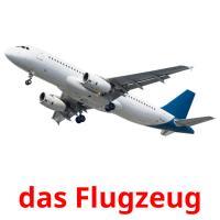 das Flugzeug picture flashcards