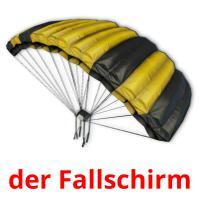 der Fallschirm picture flashcards