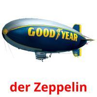 der Zeppelin picture flashcards