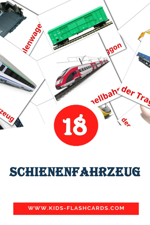 18 das Schienenfahrzeug Picture Cards for Kindergarden in german