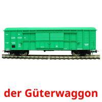 der Güterwaggon picture flashcards
