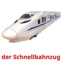 der Schnellbahnzug picture flashcards