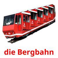die Bergbahn picture flashcards