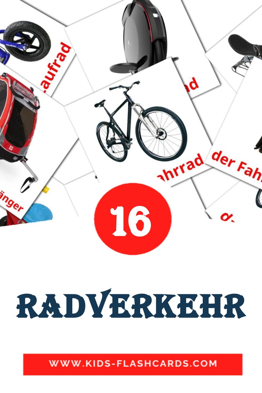 16 der Radverkehr Picture Cards for Kindergarden in german
