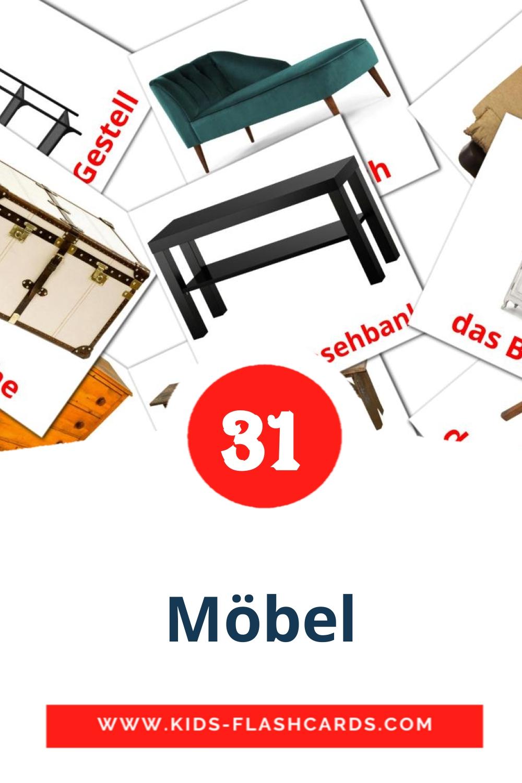 31 Möbel  Picture Cards for Kindergarden in german