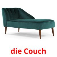 die Couch picture flashcards