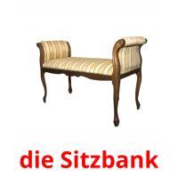 die Sitzbank picture flashcards