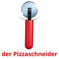 der Pizzaschneider picture flashcards