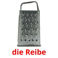 die Reibe picture flashcards