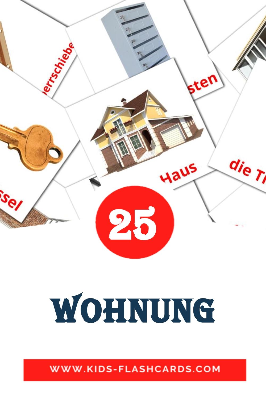 25 Die Wohnung Picture Cards for Kindergarden in german