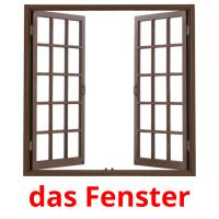 das Fenster picture flashcards