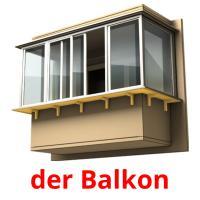 der Balkon picture flashcards