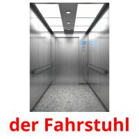 der Fahrstuhl picture flashcards