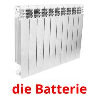 die Batterie picture flashcards