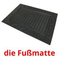 die Fußmatte picture flashcards