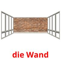 die Wand picture flashcards