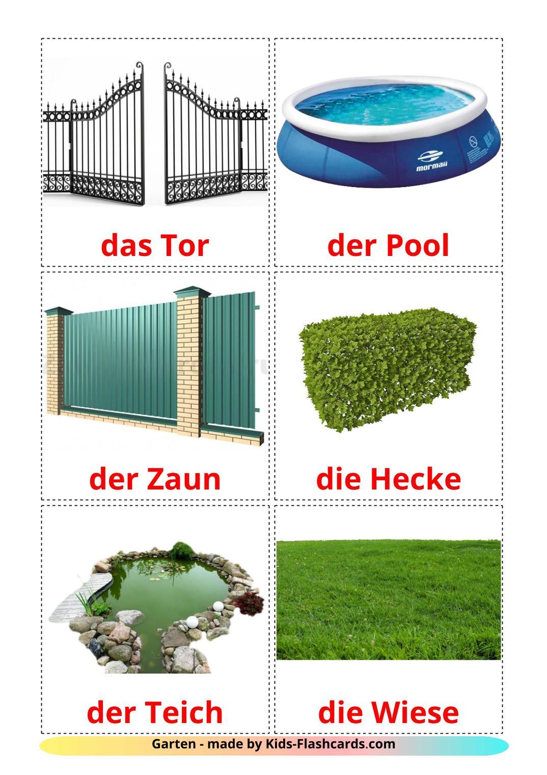 Garden - 18 Free Printable german Flashcards