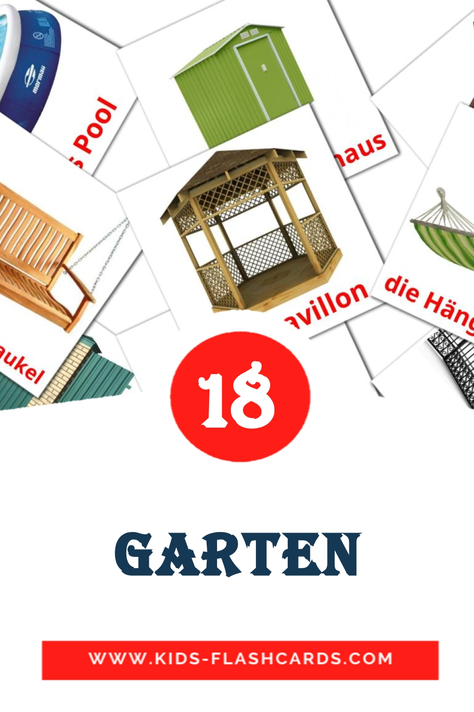 18 der Garten Picture Cards for Kindergarden in german
