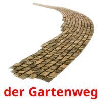 der Gartenweg picture flashcards