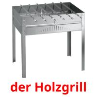 der Holzgrill picture flashcards